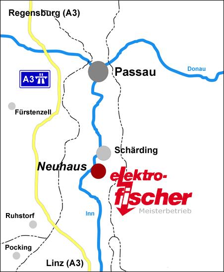 Anfahrt Elektro Fischer GmbH